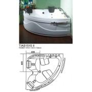 Ванна гидромассажная MARCO POLO MHMG-04152.WH 1510х1510х730мм белая угловая
