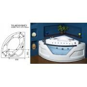 Ванна гидромассажная MARCO POLO MHMG-24151.WH 1470х1470х800мм белая угловая