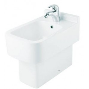 Биде керамическое HUIDA HD22031 со смесителем в комплекте, цвет: W (белый)