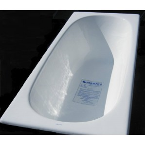 Ванна чугунная MARCO POLO 1600x700x420мм, без ручек, с ножками в комплекте, цвет: WH (белый)