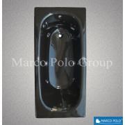 Ванна чугунная MARCO POLO 1500x700x420мм, без ручек, с ножками в комплекте, цвет: BK (чёрный)