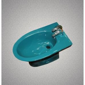 Биде керамическое HUIDA HD203 со смесителем в комплекте, цвет: DG (темно-зеленый)