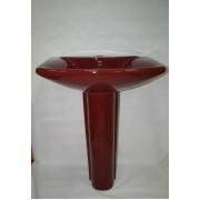 Умывальник с пьедесталом HUIDA HD201В, цвет: AR (бордовый)