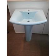 Умывальник с пьедесталом HUIDA HD201В, цвет: LB (светло-голубой)
