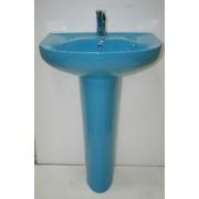 Умывальник с пьедесталом HUIDA HD203, цвет: SB (голубое небо)