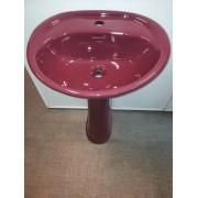 Умывальник с пьедесталом HUIDA HD4, цвет: AR (бордовый)