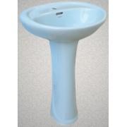 Умывальник с пьедесталом HUIDA HD4, цвет: LB (светло-голубой)