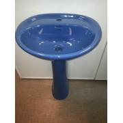 Умывальник с пьедесталом HUIDA HD7, цвет: СAB (Cambridge Blue)