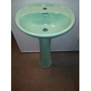 Умывальник с пьедесталом HUIDA HD7, цвет: LG (светло-зеленый)