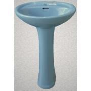 Умывальник с пьедесталом HUIDA HD7, цвет: SB (голубое небо)