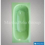 Ванна чугунная MARCO POLO 1500x700x420мм, без ручек, с ножками в комплекте, цвет: EG (природный зелёный)