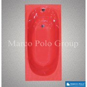 Ванна чугунная MARCO POLO 1500x700x420мм, без ручек, с ножками в комплекте, цвет: MR (матовый красный)