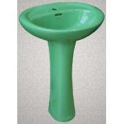 Умывальник с пьедесталом HUIDA HD4, цвет: EG (природный зеленый)