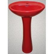 Умывальник с пьедесталом HUIDA HD7, цвет: MR (матовый красный)