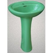 Умывальник с пьедесталом HUIDA HD7, цвет: EG (природный зеленый)