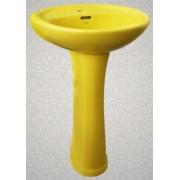 Умывальник с пьедесталом HUIDA HD7, цвет: LE (лимонный)